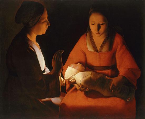 Georges de la tour newlyborn infant musee des beaux arts de rennes